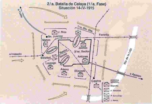 Villas battle at Celaya 1915 - phase three