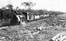 Paraguayan troop train