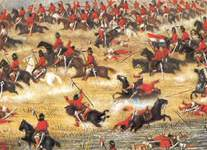 Paraguayan cavalry force a river crossing