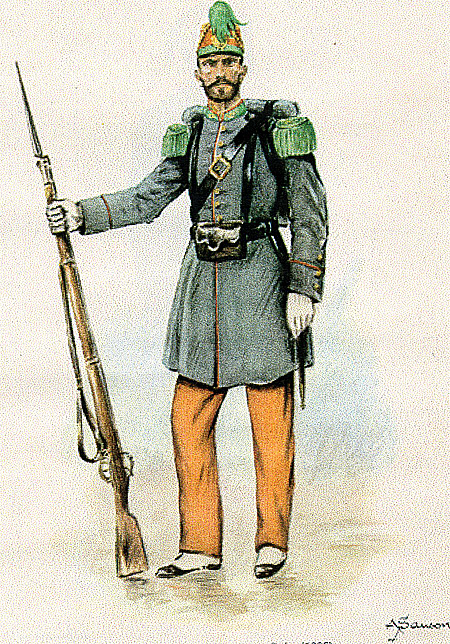 Florida battalion 1866 in alternative full dress uniform