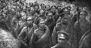 Russian infantry on the march