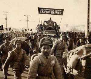 Communist troops enter Peking 1949