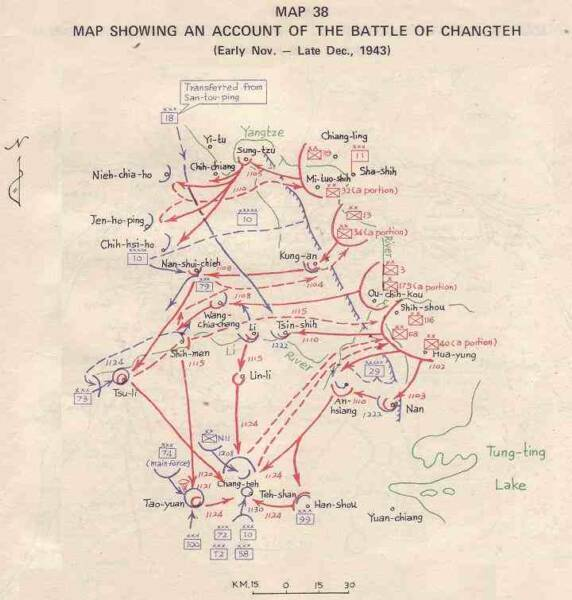 click here for larger map of battle of Changteh 1943