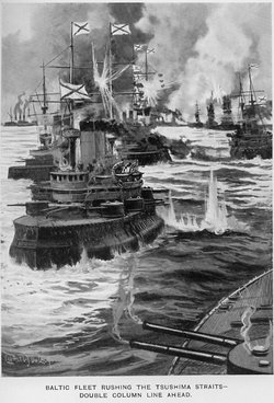 Russian fleet at Tsushima 1905
