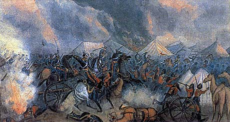 light dragoons attack the sikh camp