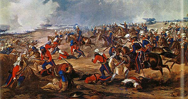 the light dragoons charge at Ramnagar