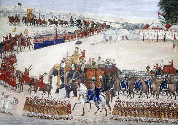 Raj procession around 1845