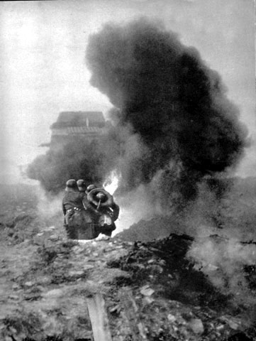 flamethrower attack - perhaps at Verdun