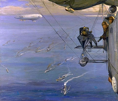 balloon observation over the north sea 1918