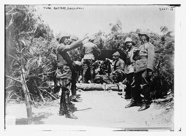 turk battery at Gallipoli 1915