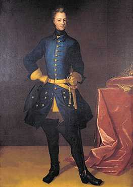 Charles XII dressed in the same uniform for many years
