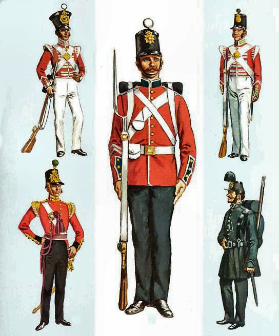 British troops of the earlier C19 - various