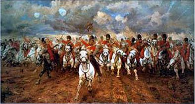 the scots greys dragoons at waterloo 1815