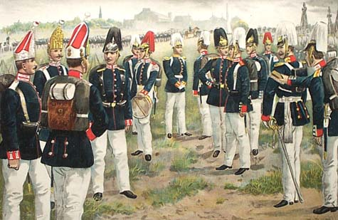 Prussian troops of the late C19