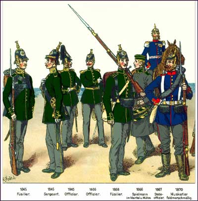 Saxon infantry of the late C19
