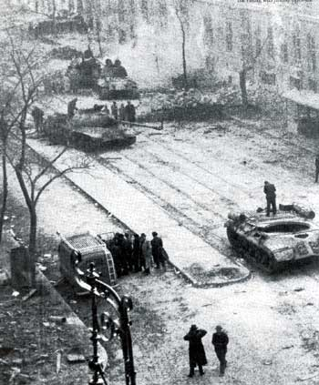 Russian tanks in Budapest 1956