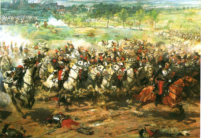 French cavalry charge at Worth