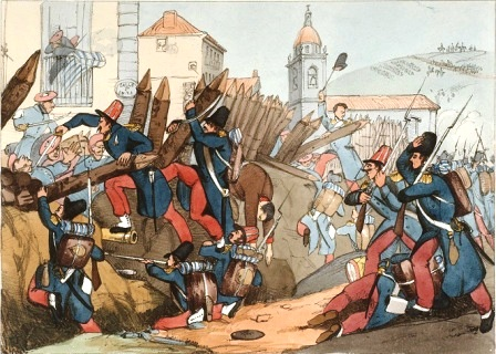 French Foreign Legion assaults a Carlist town