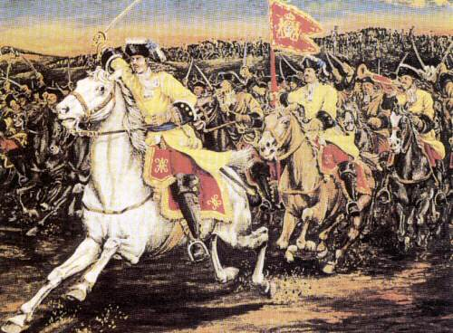 Piedmontese dragoons at the battle of Staffarda 1690