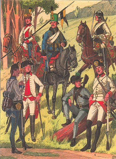 Troops of the Austrian Netherlands 1790s