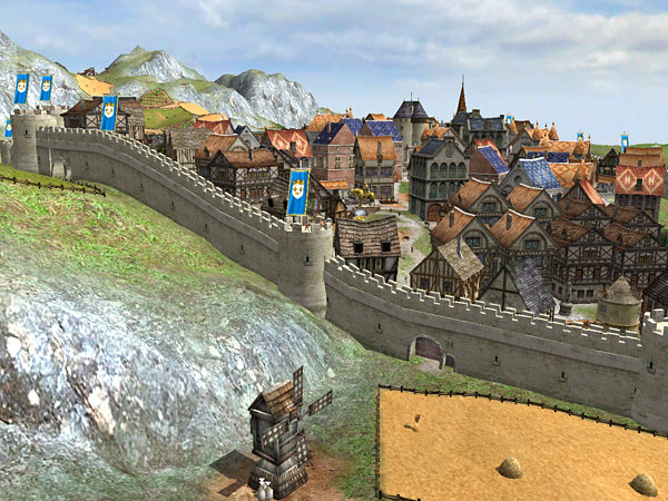 walled town - from the game MEDIAEVAL TOTAL WAR