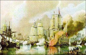 The Battle of Sole Bay off Southwold 1672