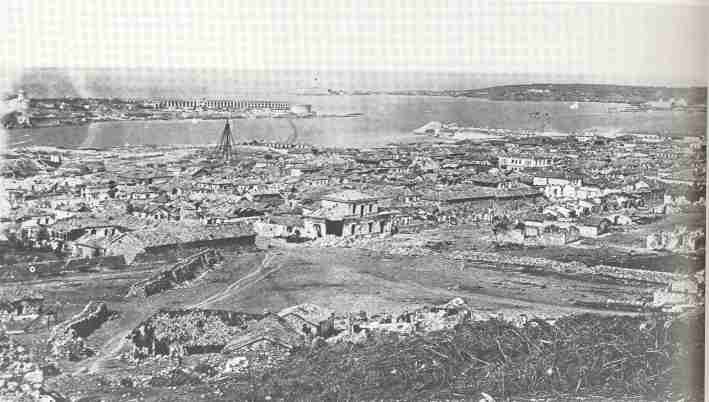 The ruins of the port at Sevastopol, seen from the Malakopf redoubt 1855
