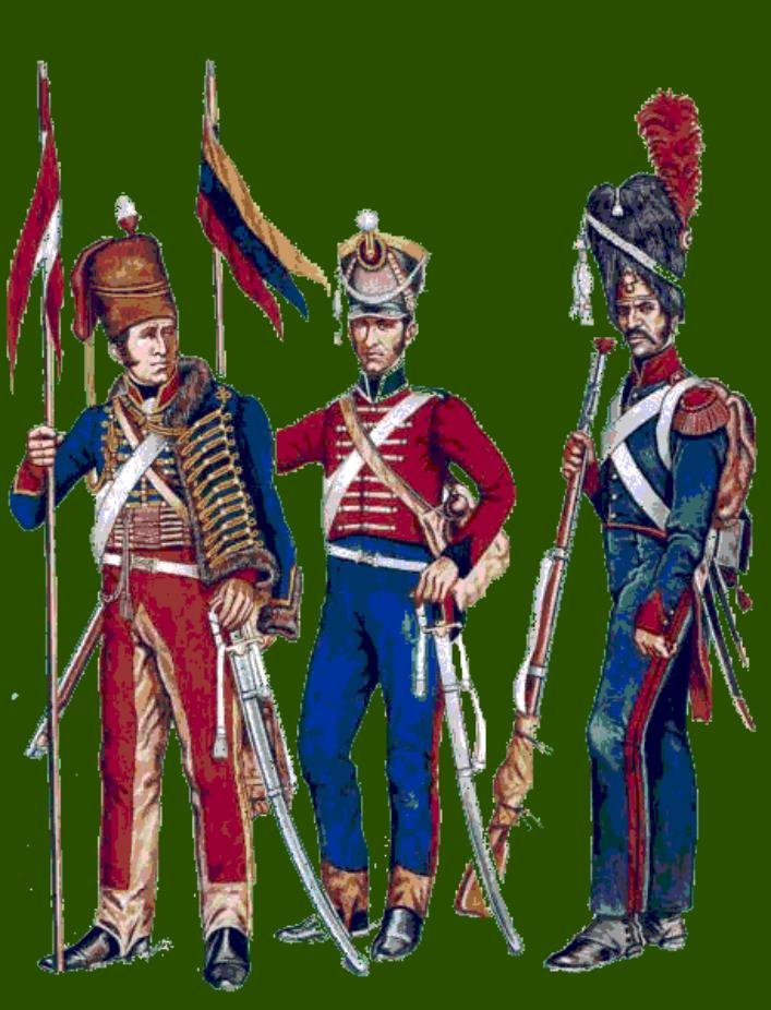 Peruvian + Colombian Grenadiers and Hussars
